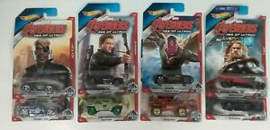 Hot Wheels 2014  Marvel Avengers Complete Set Of 8 Age of Ultron NOC