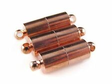 8 Magnetic Clasp Converters - Large Tube Style - Rose Gold Color - Set Pack