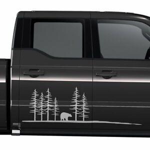 Aufkleber-Wald-Silhouette-Baer-Natur-Landschaft-Outdoor-Auto-Sticker-1400-150