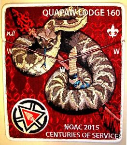 QUAPAW-LODGE-160-AR-FLAP-OA-100TH-ANNIV-2015-CENTENNIAL-NOAC-2-PATCH-DELEGATE