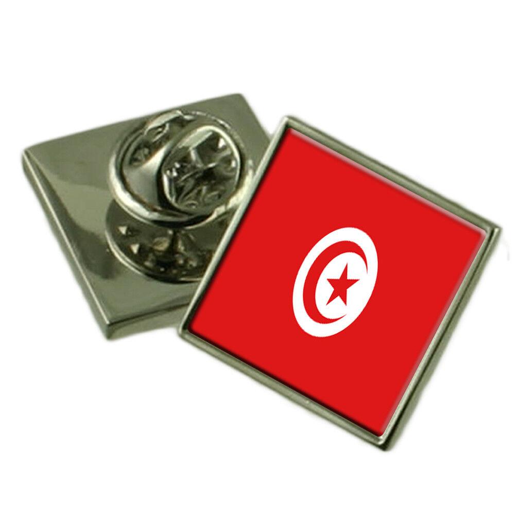Tunisia bavero Pin Pin Pin argentoo Sterling 925 BADGE Incisa Personalizzata Scatola cac7e5