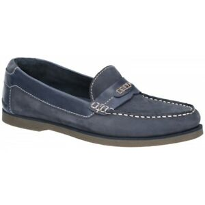 Hush Puppies FINN Mens Casual Boat Shoe Leather Moccasin ...