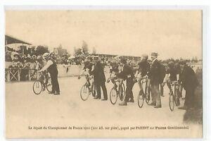 CPA-SPORT-CYCLISME-DEPART-DU-CHAMPIONNAT-DE-FRANCE-1910