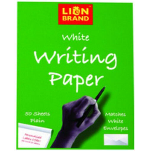 Lion Brand White Writing Paper 137mmx178mm Pad with 50 Plain Sheets