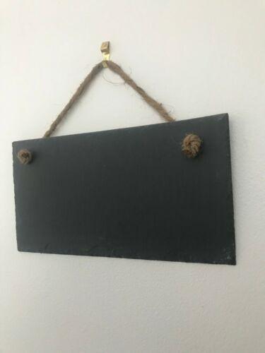Handmade natural slate chalkboard blackboard wedding sign message board 25x13cm