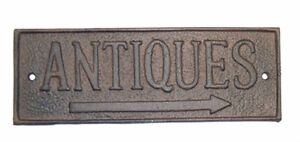 Antiques-Cast-Iron-Yard-Sign-Rustic-Barn-Shed-Country-Primitive-Farmhouse-Decor