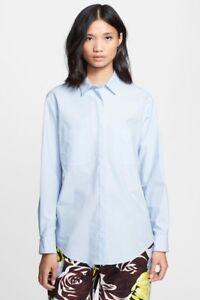 Shirt cargando Msgm Button Womens está La Cotton Front Sz imagen Top 1aB8ZwWw6