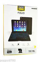 Zagg Zaggkeys Folio Case W/ Bluetooth Backlit Keyboard ( Apple Ipad Air ) Black