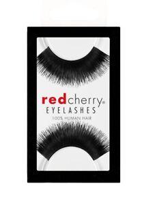 Red-Cherry-LAROU-201-falsche-schwarze-Echthaar-Wimpern-false-strip-lash