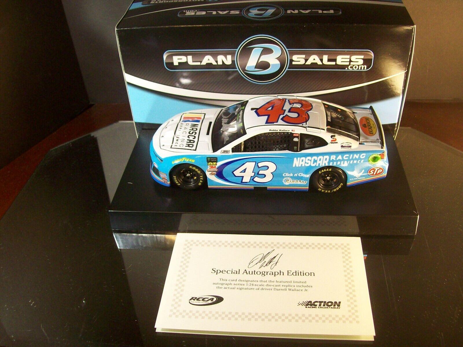 Darrell Bubba Wallace  43 NASCAR Racing Experience Cargraphed 2018 Camaro ZL 1