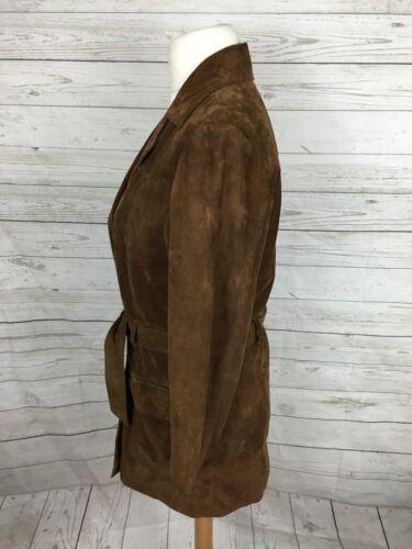 double 14 Manteau en boutonnage pour Uk12 daim Excellent Timberland M femmes à 5wqgH