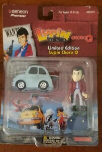 Lupin-amp-Pullback-ChoroQ-Limited-Edition-Figure-With-Stand-2-034-NEW-PACKAGE-WEAR