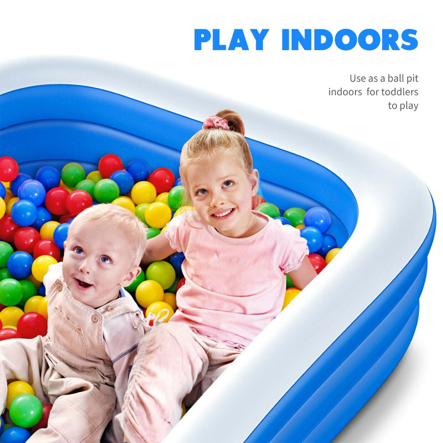 Large Swimming Pool 290cm 3 Layer Kid Family Summer Bath Tub Outdoor Inflatable