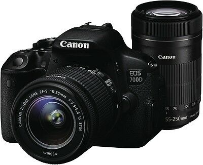 NEW Canon 700D Movie Twin Lens Kit (18-55mm55-250mm) 700DMTK