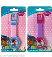 Disney Doc McStuffins LCD Watch Girls Wristwatch Kids Digital Purple Watch-New!