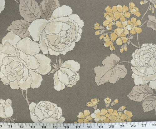 Putty Drapery Upholstery Fabric Indoor//Outdoor Large Scale Retro Floral