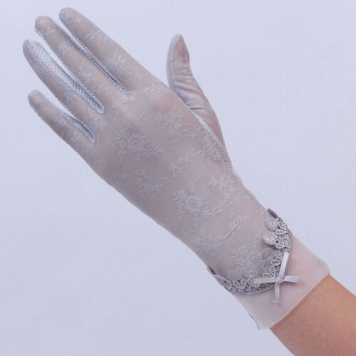Women/'s Fashion Autumn UV-Proof Driving Gloves Wedding Party Bridal Lace Gloves