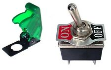 1 PC DPST ON/OFF 4P HD TOGGLE SWITCH 20AMP@125V TRANS-GREEN FLIP 66-1904/66-5020
