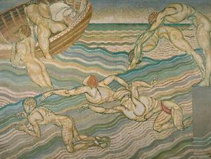 Bathing : Duncan Grant, 1911 : Archival Quality Art Print