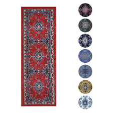 "Traditional Oriental Medallion Rug 2x7 Persien Style Runner -Actual 1'10""x7'3"""