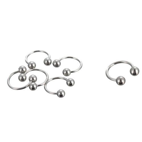 10XStainless Steel Body Pierce Jewelry Eyebrow Tongue Bar Labret Lip Nose RingJC