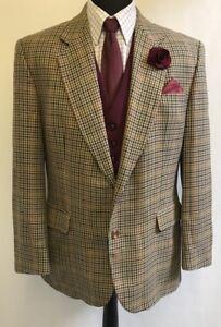 Jermyn Windowpane 42s Men's Ms2490 Street Size Blazer Jacket Daks Vintage 4Iq5Rpx