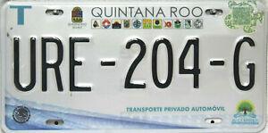 Quintana Roo Licencia Plate, Original Matrícula México URE-204-G Originalbild