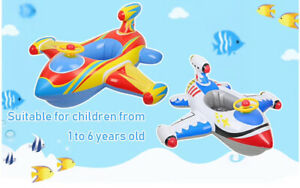 Free Swimming Baby Inflatable Airplane Swimming Float Seat Boat Pool Swim Ring f