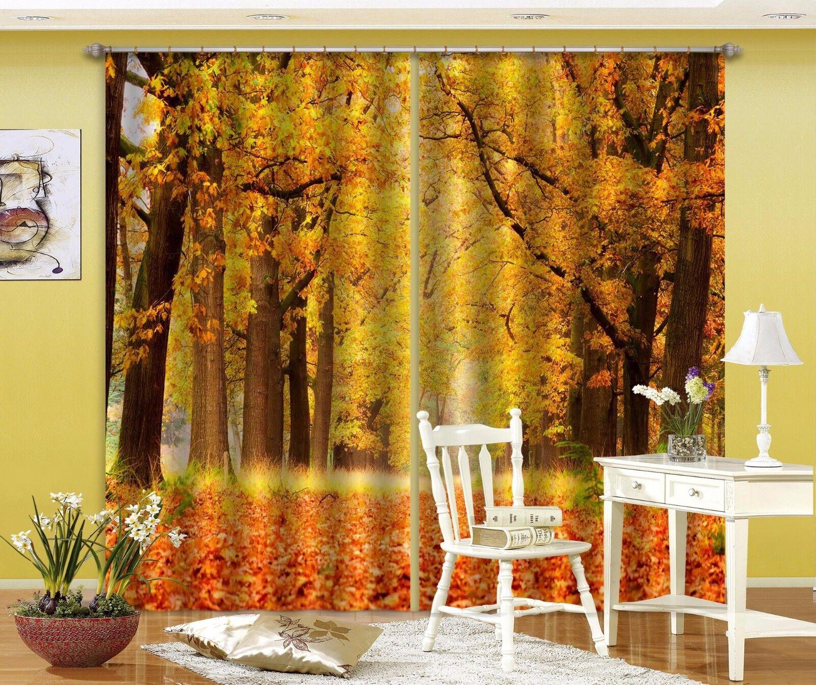 Árbol de oro 3D 798 Cortinas de impresión de cortina de foto Blockout Tela Cortinas Ventana CA