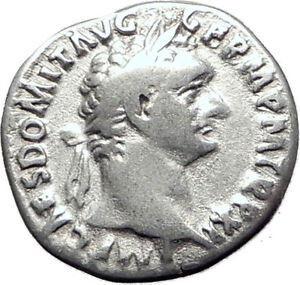 DOMITIAN-son-of-Vespasian-87AD-Silver-Ancient-Roman-Coin-Athena-Minerva-i65089