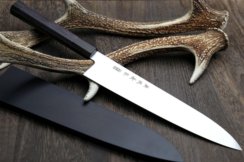 Yoshihiro Inox Honyaki Stain Resistant Steel Wa Gyuto Chef knife Shitan Handle   eBay