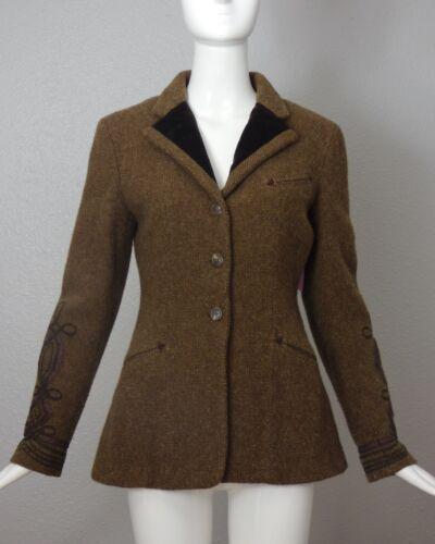 RALPH LAUREN BLUE- Wool Soutache Jacket, Size 10