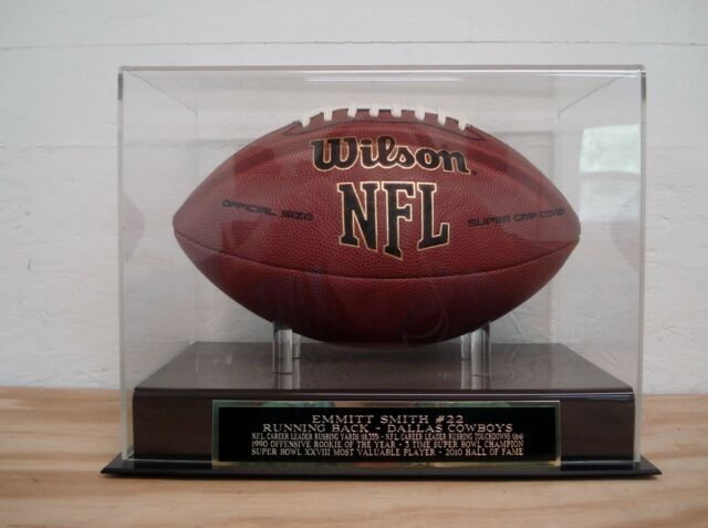 Display Case For Your Emmitt Smith Dallas Cowboys Signed Football