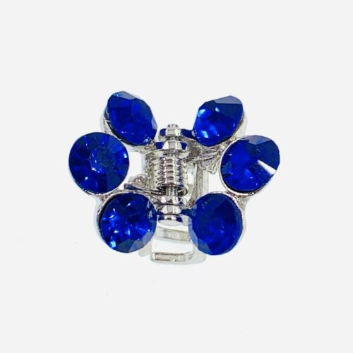USA Small Metal Vintage Hair Claw Jaw Clip Rhinestone Crystal Hairpin Blue S5