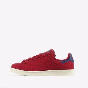 Adidas Blu Scarpe Intrecciato Originals Stan Uomo Smith Scuro Rosso rxqwrgT0F