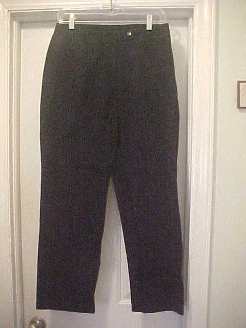 460fa7b2407 Liz Claiborne Solid Navy Blue Pants Womens Size 10 Petite 100% Cotton 28