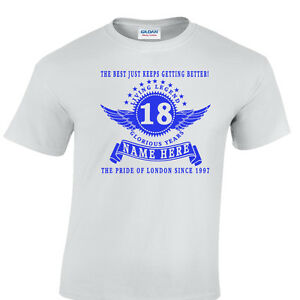 Personalisiert 60th Geburtstag T-Shirt Add Name und Jahr der Wahl Groß Gift 1960