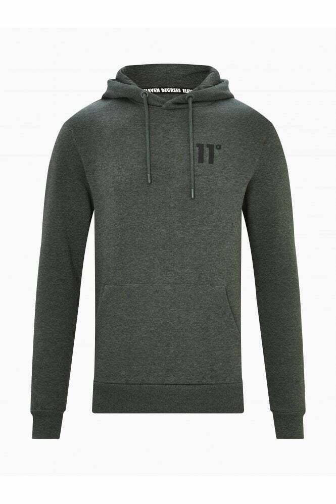 11 Degrees Core Pullover Hoodie - Khaki / Black Marl