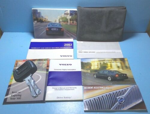 02 2002 Volvo S80 owners manual