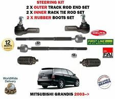 FOR MITSUBISHI GRANDIS 2003-> 2X OUTER +2X INNER TRACK RACK TIE ROD END + BOOTS