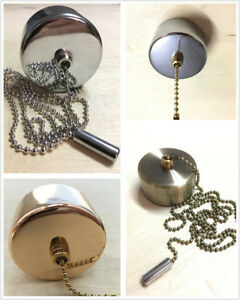 Light-Pull-Chain-Switch-Chrome-Cover-for-Bathroom-Ceiling-Fan-light-160cm-Chain