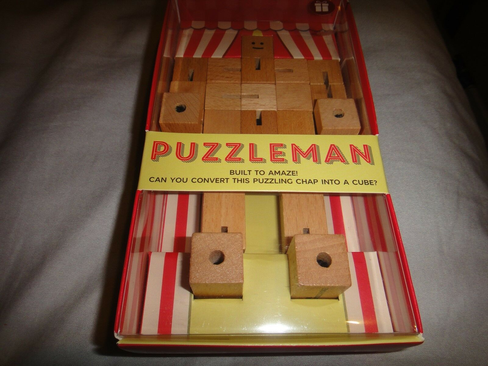 Marks & Spencer Gift Bazaar Wooden Cube Puzzleman (Original Product) RARE