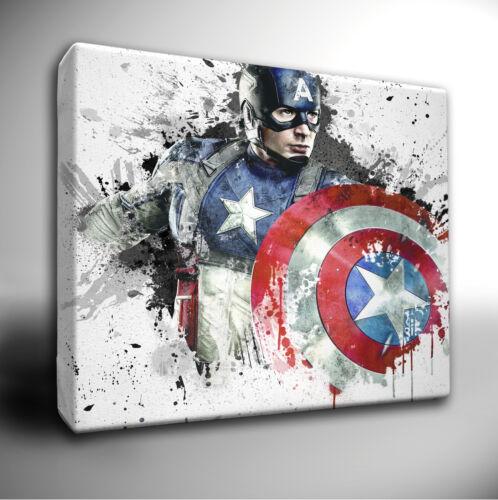Choose your Marvel AVENGERS paint splatter CANVAS Wall Art Picture *larger sizes