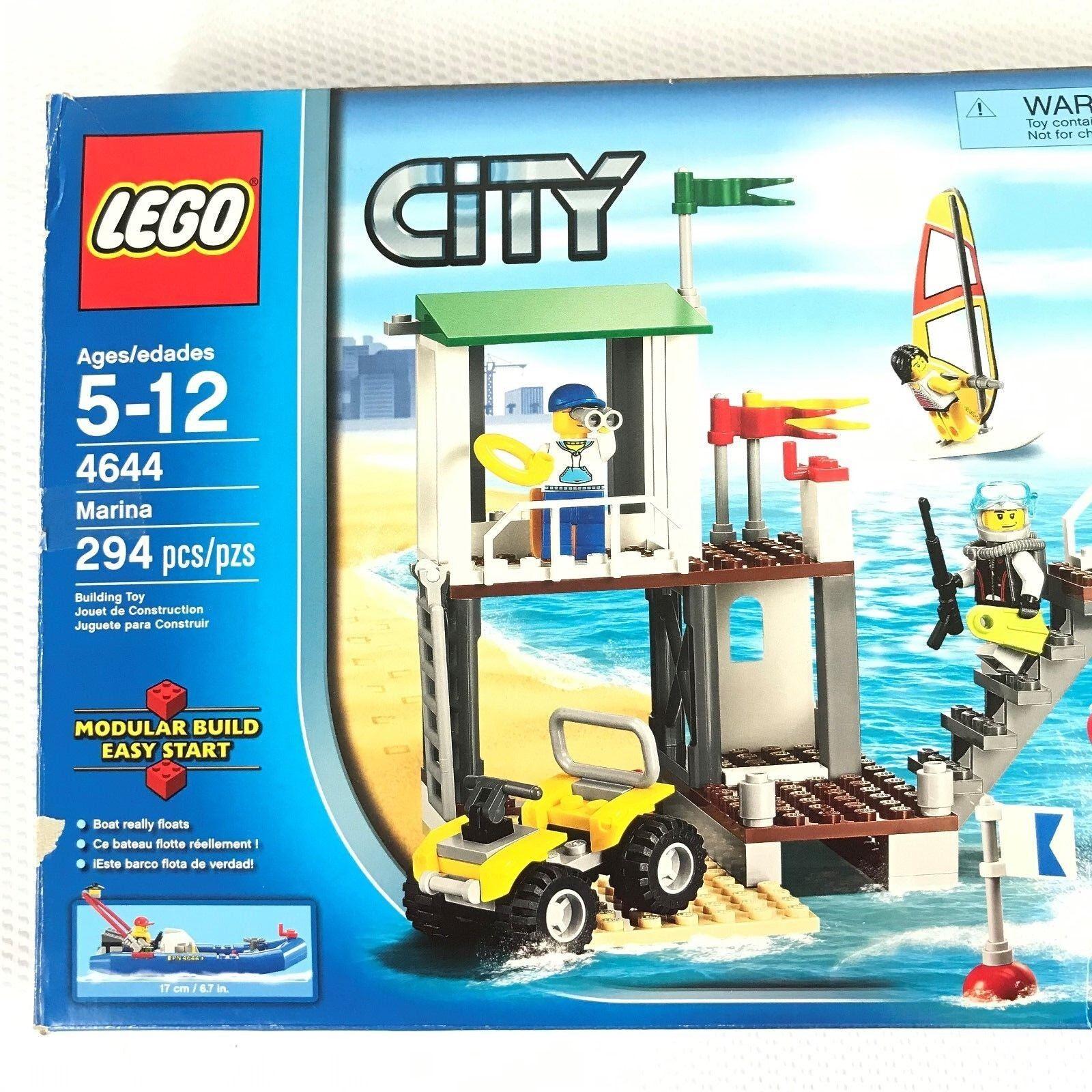 4644 LEGO Marina Complete W Box Bag  1 Assembled 2011 NEW Opened