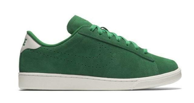 outlet store 4ca08 8d3a5 Mens NIKE COURT TENNIS CLASSIC CS Suede Green Trainers 829351 300