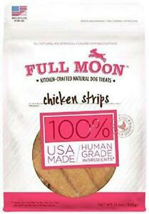 Full-Moon-All-Natural-Human-Grade-Dog-Treats-Cage-Free-Chicken-Strips-12-Oz-New