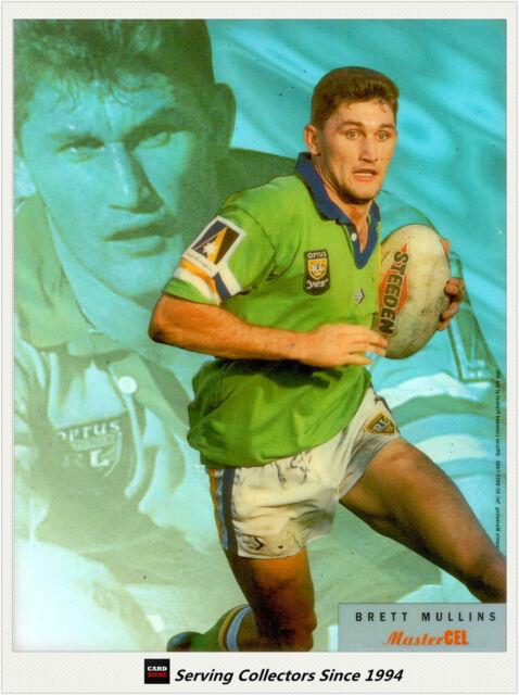 1996 Dynamic Rugby League MASTER CEL PRE-PROOF ACETATE CARD : BRETT MULLINS