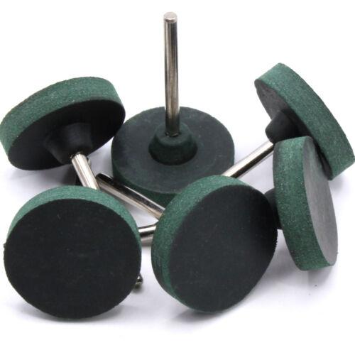 6x Pièce Meule Caoutchouc Polissage 25mm pour Dremel Proxxon Accessoire D43