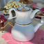 thumbnail 1 - White Turkish Enamel & Porcelain Teapot Tea Kettle Tea Maker Double Container