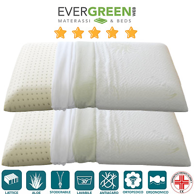 Meglio Materasso Lattice O Memory.Evergreenweb Cuscino Lattice O Memory Foam Tessuto Aloe Vera